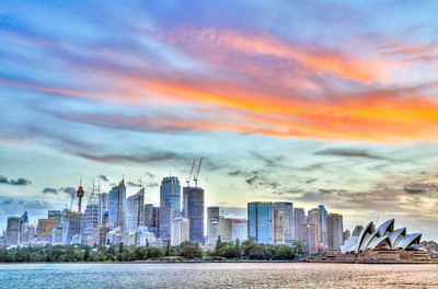 Sydney Skyline Sunset