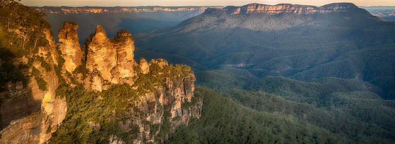 The Three Sisters, Katoomba, Australia. Panorama