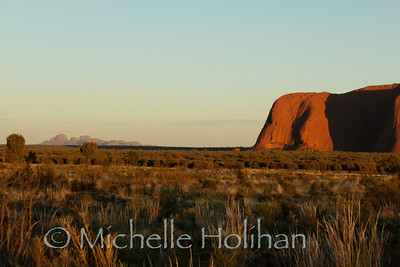 Uluru and Kata-tjuta at sunrise