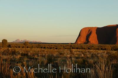 Uluru and Kata-tjuta at sunrise