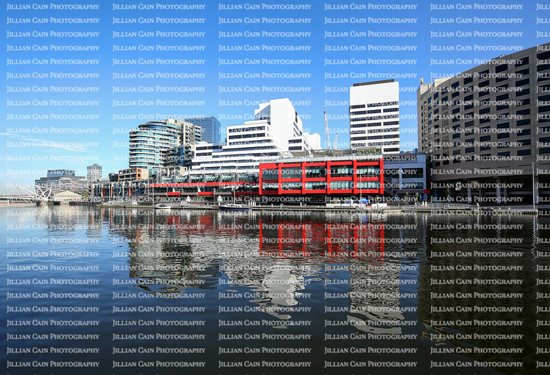 Beautiful downtown Melbourne skyline reflects into the Yarra River.