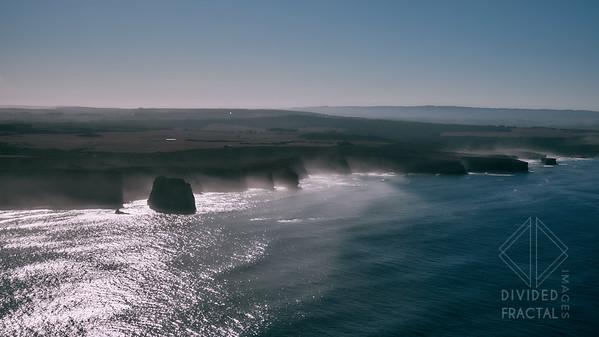Australia, Melbourne, Great Ocean Road, 12 Apostles, Aerial, Fog, Mist