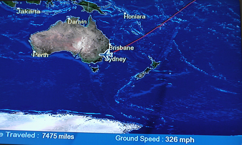 Twenty hours in the air.  Aargh.