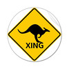 Much to my surprise, these signs are all over, and no deer signs at all.  Or signs  of deer, for  that matter.  Kangaroos and wallabies are like vermin in New Zealand.  Wonder if they shot all the deer, as they tried in New Zealand.