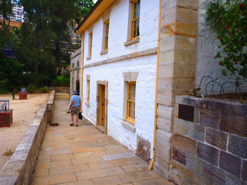 The Cadman Cottage, reconstructed home of a former convict whose story is described in the next picture.