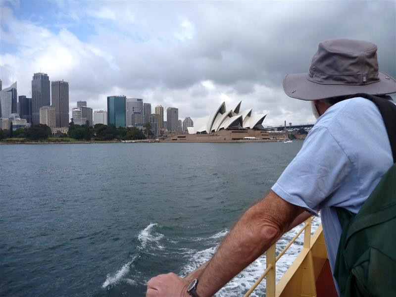 Peter from the Sydney Harbor ferry to Manly.