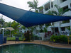 Our apartment building, across a quiet street from Clifton Beach, near Cairns.