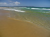 Yes, the water is this clear.  This sand is not as white as Jervis Bay's sand -- but beautiful just the same.