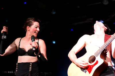 The Dresden Dolls. This shot is my best capture of just how much fun these two have playing together. The energy and the enjoyment without taking themselves too seriously. It seemed that at every chance he got, Brian's mission was to make Amanda laugh and flub her lines. At times it worked. Here she just seemed entertained by his antics.