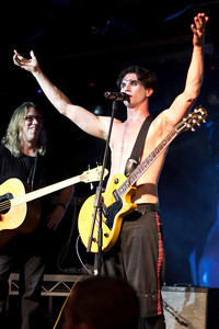 """The Dresden Dolls featuring Brian Ritchie (of the Violent Femmes) for a cover of The Beastie Boys' """"Fight For Your Right (To Party)"""". I love the way Brian Viglione's arms fill the frame perfectly, and the way Brian Ritchie's face is half in shadow."""