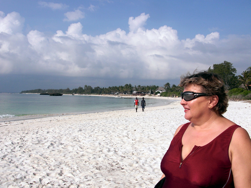 Christiane, ready for another dive day.<br /> Watamu, Kenya