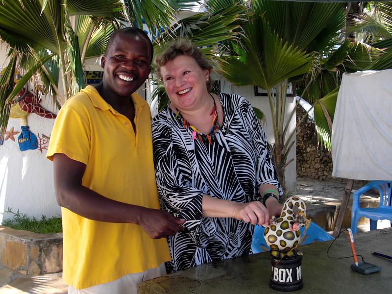 James and Christiane.<br /> Watamu, Kenya