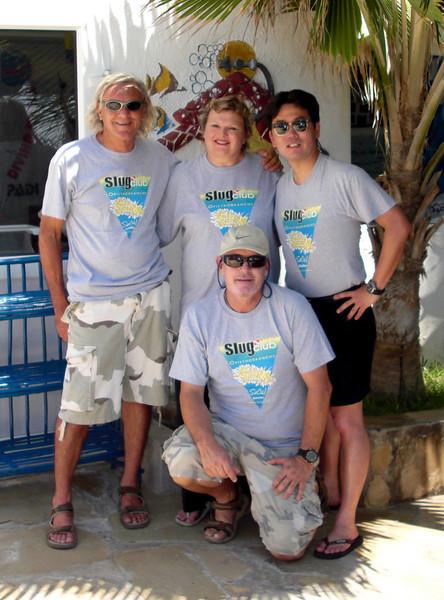 Slug Clubbers, Lorenzo, Christiane, Kevin & Angelo<br /> Watamu, Kenya