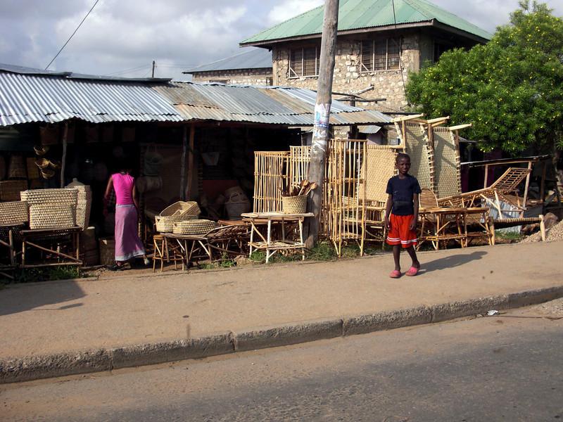 Furniture vendor.<br /> Malindi, Kenya