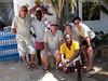 "L-R: Lorenzo, ""Iron Mike"", Angelo, James, Christiane & Kevin<br /> Watamu, Kenya"