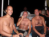 L-R: Alexander, Sergio & Enrico, after a night dive, cracking jokes.<br /> Our boat nearly capasized on the way in, from a breaking wave on the outer reef.  We weren't laughing then.<br /> Watamu, Kenya