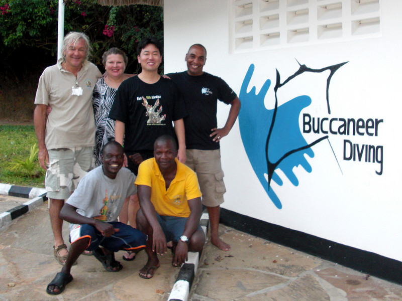 Diving with Timothy, of Buccaneer Diving, who hosted our diving in Kalifi.<br /> Kalifi, Kenya