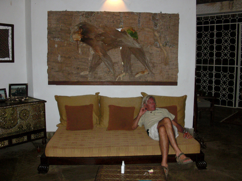 Lorenzo lounging in Camella & Angelo's home.<br /> Malindi, Kenya.