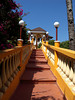 Stairs up to walk bridge