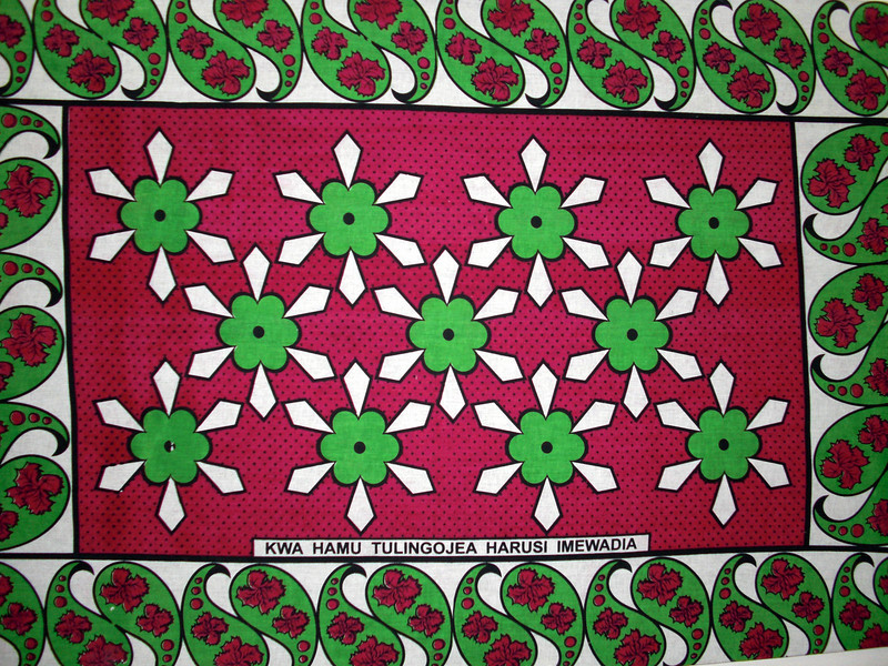 """Kenyan textile designs are colorful and attractive.<br /> """"We anxiously await the wedding day"""""""