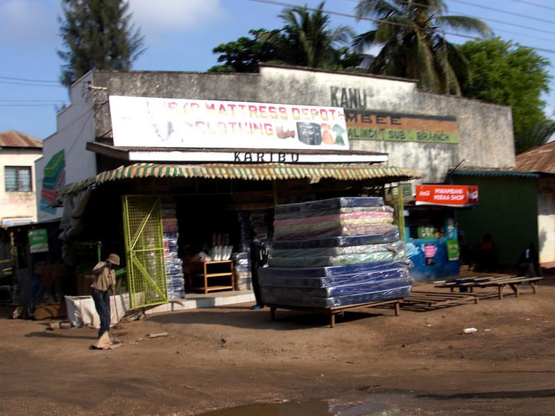 Mattress vendor.<br /> Enroute to Malindi, Kenya