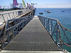 Muelle Baron Pier, ramp to floating dock, where we board a dive boat.<br /> Valparaiso, Chile