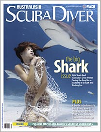 Scuba Diver AustralAsia Shark Issue