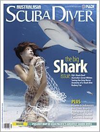 Scuba Diver AustralAsia Shark Issue