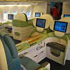 My seat on Koren Air from Seoul to Auckland - these are new!  Very similar to Delta's awesome new Business Elite seat.