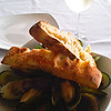 Delicious New Zealand green-lipped mussels and a Marlborough Sauvignon Blanc.  The perfect meal.