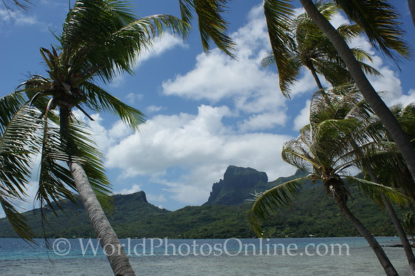 Bora Bora - View of Mt Popoti from Pointe Taihi 1