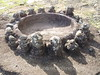 Marquesas - Nuku Hiva -Taiohae - Festival Grounds - Ceremonial Circle with heads
