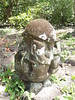 Marquesas - Nuku Hiva - Hikoku archaeological site - tiki (statue) - tortoise on top, man underneath