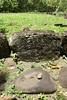 Marquesas - Nuku Hiva - Hikoku archaeological site - Grinding stones