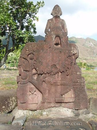 Marquesas - Nuku Hiva -Taiohae - Festival Grounds - Tiki 8