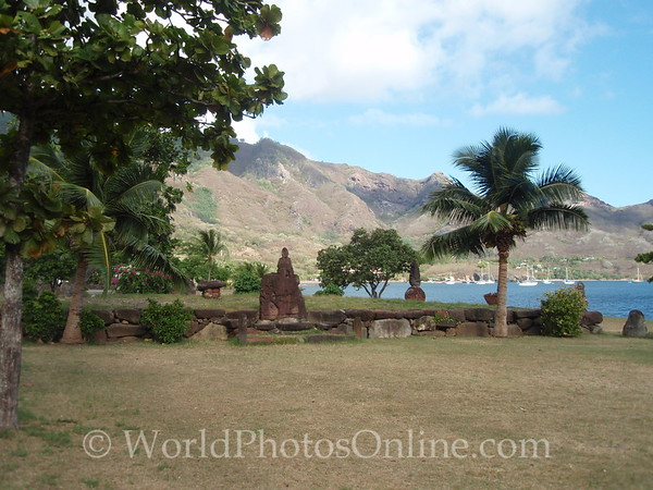 Marquesas - Nuku Hiva -Taiohae - Festival Grounds - Ceremonial Platform 2
