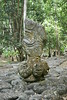 Marquesas - Nuku Hiva - Kamuihei archaeological site - Tiki (statue) 1