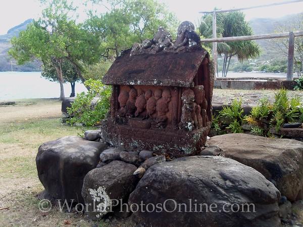 Marquesas - Nuku Hiva -Taiohae - Festival Grounds - Tiki 2