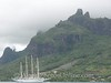 Moorea - View from Cook's Bay of Island and schooner