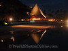 Moorea - Sofitel Resort - Restaurant at night