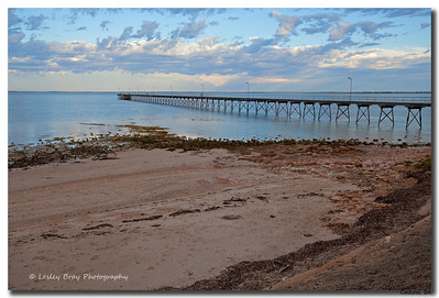 Ceduna Jetty at sunrise, South Australia.  Photographed February 2012 - © 2012 Lesley Bray Photography - All Rights Reserved
