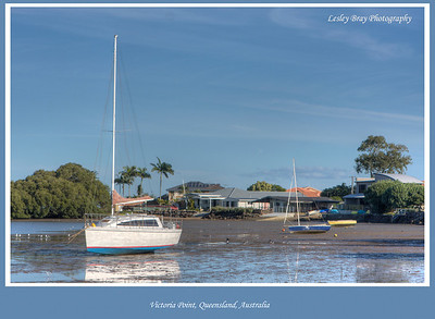Low Tide at Victoria Point, Redland City, Queensland, Australia.