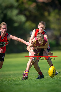 Preliminary_Final_N-C_Yr9_Red_Quinns Thunder_vs_Warwick_Greenwood_Knights_09 09 2018-6