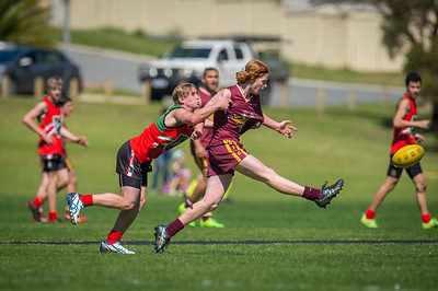 Preliminary_Final_N-C_Yr9_Red_Quinns Thunder_vs_Warwick_Greenwood_Knights_09 09 2018-22