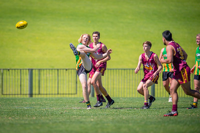 Preliminary_Final_Northern_Conference_18s_Red_Scarborough_Green_vs_Quinns_Bulls_08 09 2019-29