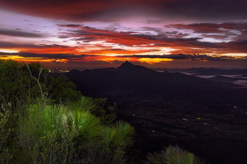 Sunrise over border rangers national park.