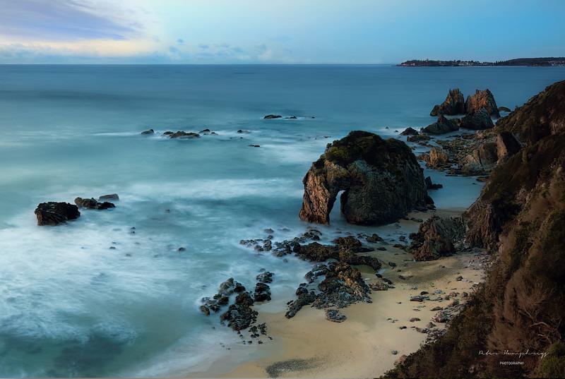 Coastline of bermagui south coast n.s.w.