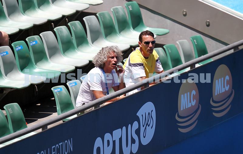 16-1-14. Australian Open. Womens singles, round 2. Camila Giorgi (ITA) lost to Alize Cornet (FRA) 3-6 6-4 4-6. Sergio Giorgi. Photo: Peter Haskin