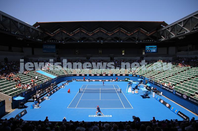 16-1-14. Australian Open. Womens singles, round 2. Camila Giorgi (ITA) lost to Alize Cornet (FRA) 3-6 6-4 4-6. Photo: Peter Haskin