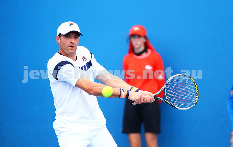 21-1-15. Australian Open. Men's Doubles. Round 1. Jonathan Erlich (ISR)/Treat Huey (PHI) defeats Dusan Lajovic (SRB)/Yen-Hsun Lu (TPE) 6-3 6-7 6-3. Photo: Peter Haskin